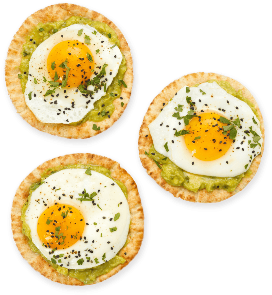 Joseph's Bakery mini pita with eggs